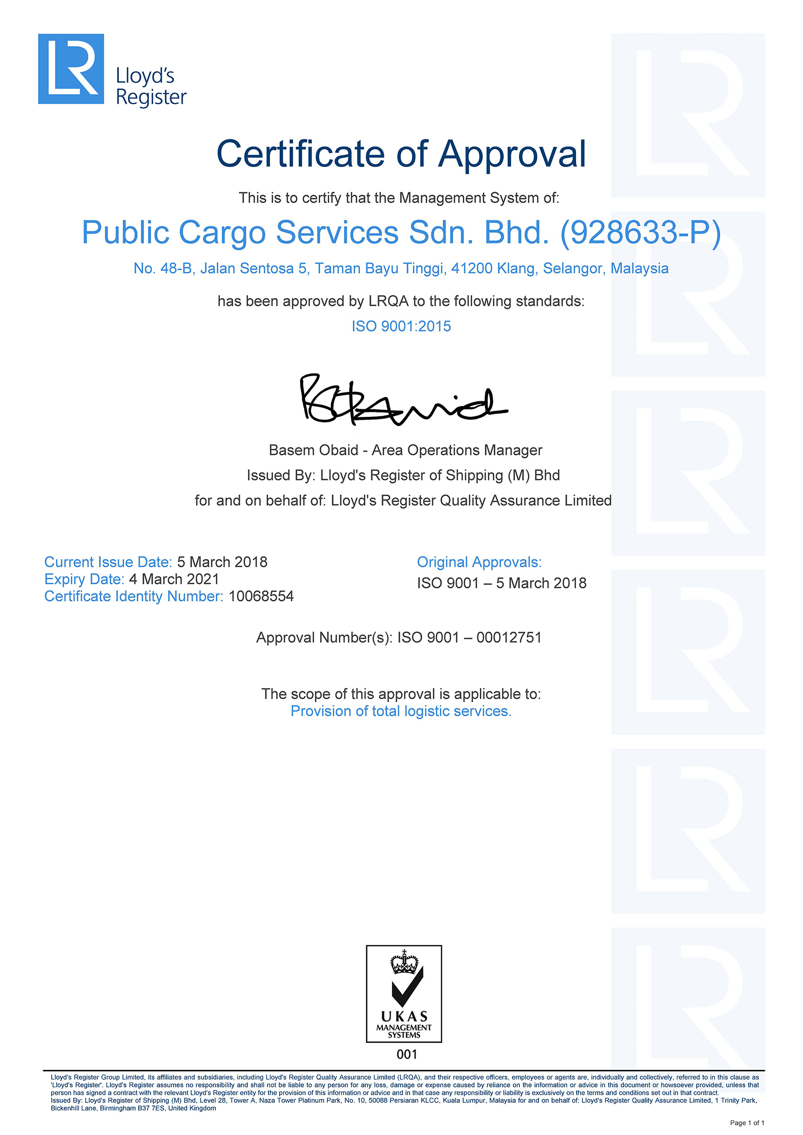 Public Cargo Services Sdn Bhd – Your Preferred Choice, For